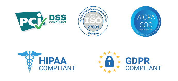Security - PCI - ISO - HIPAA - SOC2 - GDPR