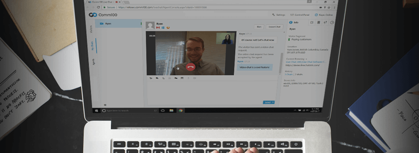 Introducing Audio & Video Chat in Comm100 Live Chat