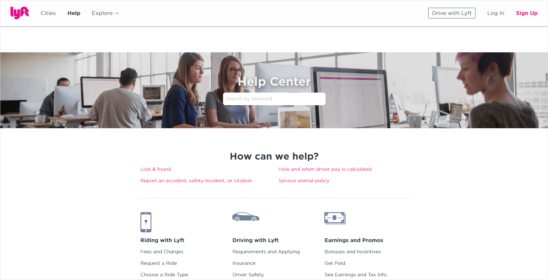 Knowledge Base Examples - Lyft