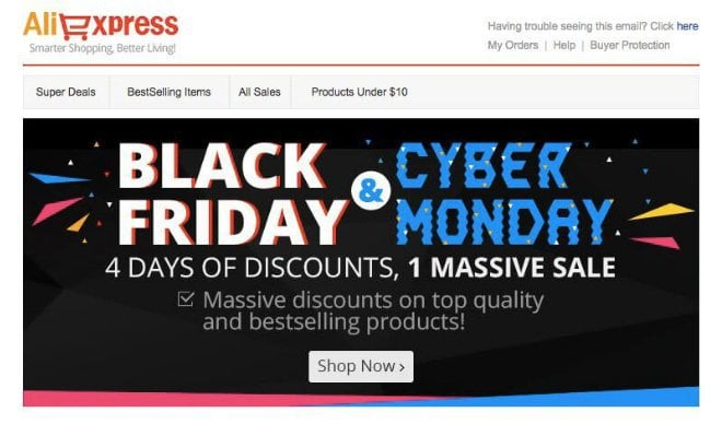 Aliexpress Holiday Deal