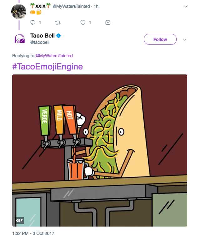social media customer service Taco Emoji Engine