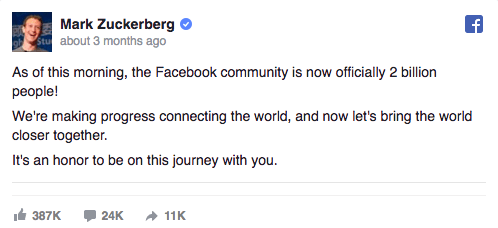 social media customer service Mark Zuckerberg