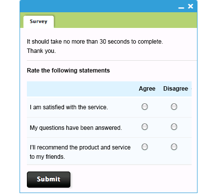 Customize Post-Chat Survey with JavaScript